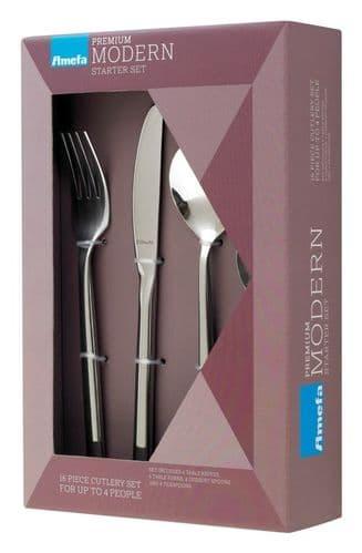 Amefa Modern Cutlery Set - 16 Piece Carlton